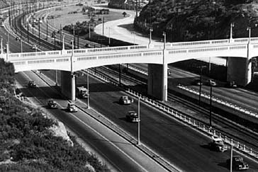 The Hollywood Freeway in the late 1940s